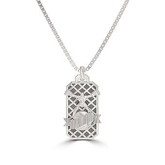 Ufc - Ufc Ulti-Man Octagon Pendant In Sterling Silver