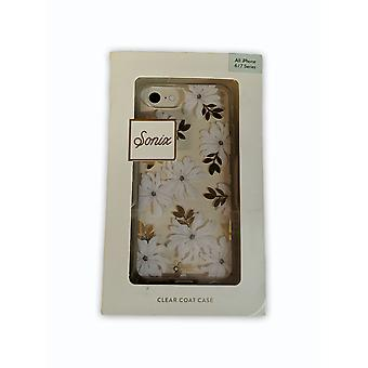 Sonix Clear Coat Caes for Apple iPhone 8/7/6 - Gardenia (White flower)