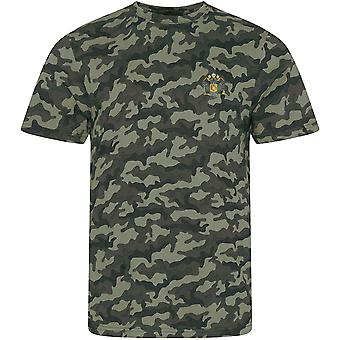 1. dronninger Dragoon Guards QDG-licenseret British Army broderet camouflage print T-shirt
