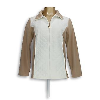 Susan Graver Donne's Fleece Giacca Weekend Polar Fleece Bianco A282943