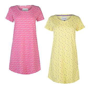 Rock and Rags Womens 2 Pack Night Dress Ladies
