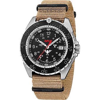 KHS - Wristwatch - Men - Enforcer Steel CR with Natoband Beige- KHS. ENFSCR. Nt
