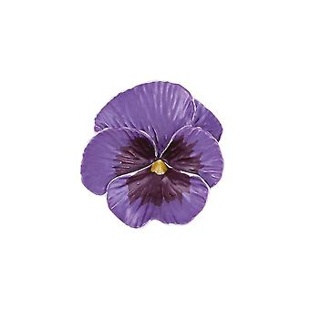 Eternal Collection Pansy Perfection Purple Enamel Silver Tone Flower Brooch