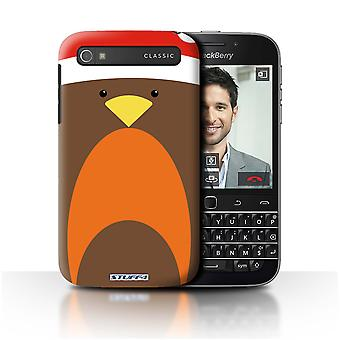 STUFF4 Case/Cover for Blackberry Classic/Q20/Robin/Christmas Character