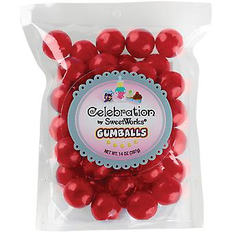 Gumballs Stand-Up Bag 14oz-Red SCGUM14-05402