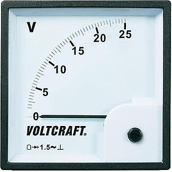 VOLTCRAFT AM-96x96/25V Analogue panel-mount measuring instrument