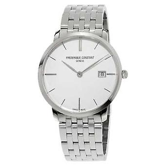Frederique Constant Slimline Mens 39mm Sapphire Glass Silver Dial FC-220S5S6B Watch