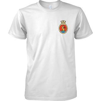 HMS Severn - atual cor de t-shirt do navio da Marinha Real