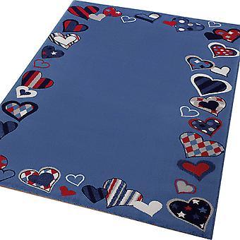 Weconhome Herzen nur Teppiche 0766-04 In blau