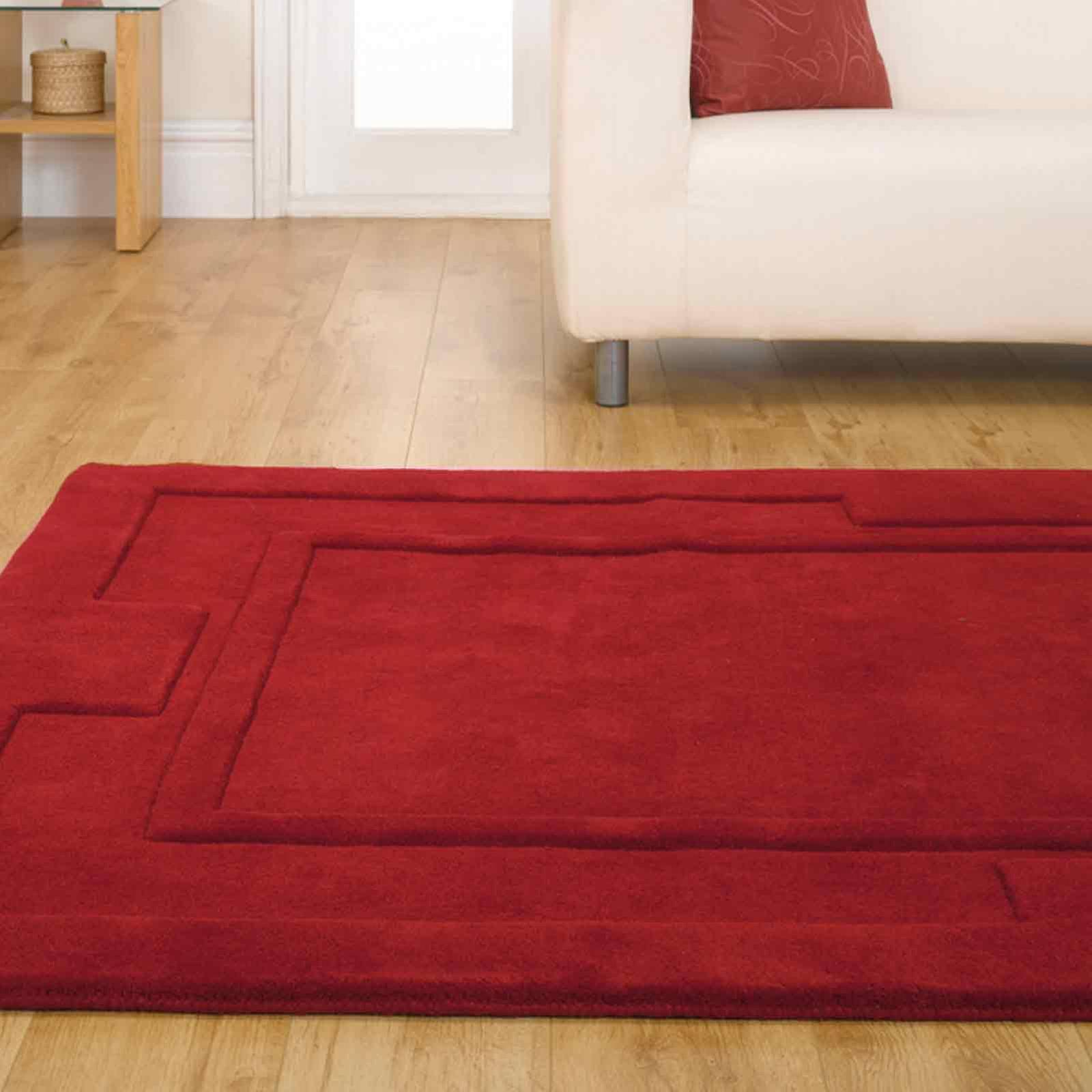Sierra Apollo Rugs In Red - Pure Wool