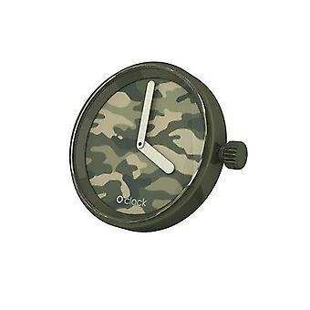 O clock clock Camouflage Green