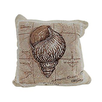 Sea Treasures Triton Shell Tapestry Throw Pillow 17 X 17 Inch
