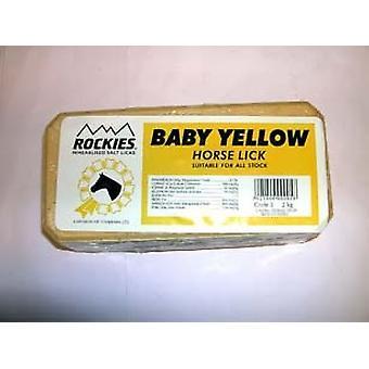Tithebarn hest Baby Rockie gul slikke 2kg