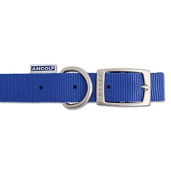 Heritage Nylon Collar Blue 19mm X35-43cm Sz 4
