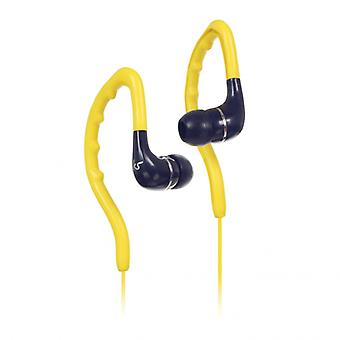 KITSOUND Headphone Enduro Yellow In-Ear Ear Hook Water Safe