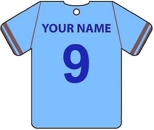 Personalised Coventry City Football Shirt Car Air Freshener