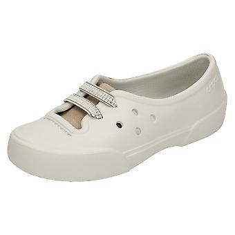Girls Crocs Slip On Flats Nahani
