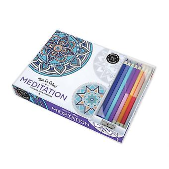 Vive Le Color: Meditation (Adult Coloring Book and Pencils) (Paperback) by Abrams Noterie