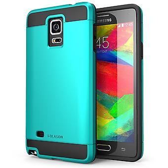 Jag-Blason-Samsung Galaxy Note 4-enhet serie bepansrade Hybrid TPU-blå