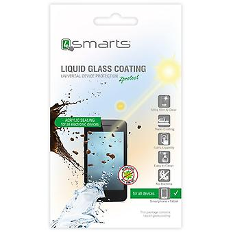 4smarts universal nano coating liquid glass + polishing cloth for smartphones wearable BLISTER