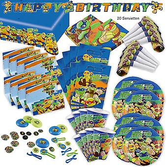 Turtles helped shell heroes party set XL 94-teilig for 8 guests turtle turtle decoration party package