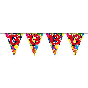 Pennant chain 10 m number 13 years birthday decoration party Garland