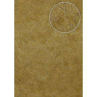 Graphic wallpaper Atlas STI-6015-4 non-woven wallpaper minted in coat patterns shimmering gold olive yellow Ochre yellow perl gold 7,035 m2