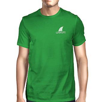 Mini Shark grön Mens kort ärm Tshirt rolig Design Tee för honom