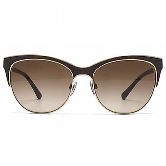 Giorgio Armani Sonnenbrille Metall Cateye In Pale Goldmatt Brown