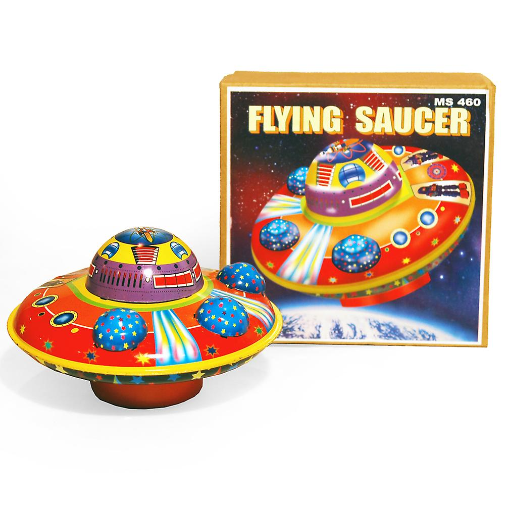 Flying Saucer - Retro Tin Collectable Ornament