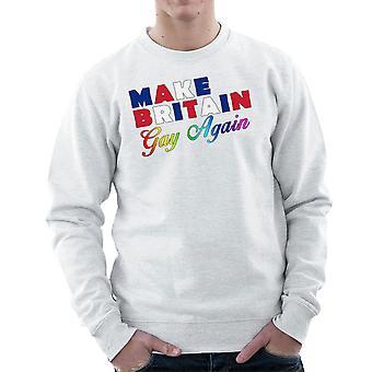 Make Britain Gay Again LGBTQ Pride Men's Sweatshirt