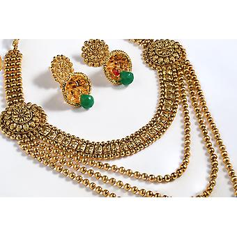 18ct Gold Plated Three Chain Necklace Set