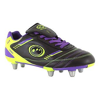 OTTIMALE tribale Rugby Scarponi Junior [blk/viola/verde]