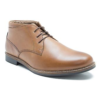 Red Tape Barlow Tan Leather Men's Classic Desert Boots