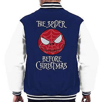 The Spider Before Christmas Spiderman Homecoming Men's Varsity Jacket