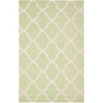 AVA grøn & elfenben espalier uld tæppe - Safavieh