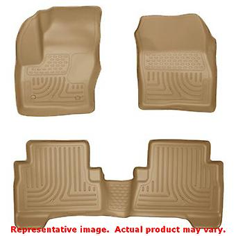 Husky Liners 99743 Tan WeatherBeater Front & 2nd Seat F FITS:FORD 2013 - 2014 C