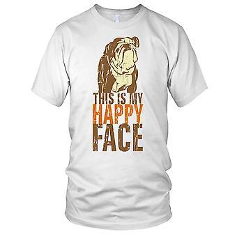 Dit Is mijn Happy Face Bulldog Mens T Shirt