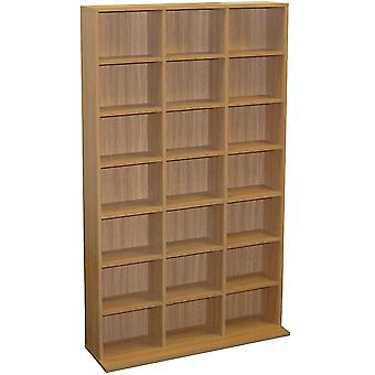 Pigeon Hole - 588 Cd / 378 Dvd Blu-ray Media Storage Unit - Rovere