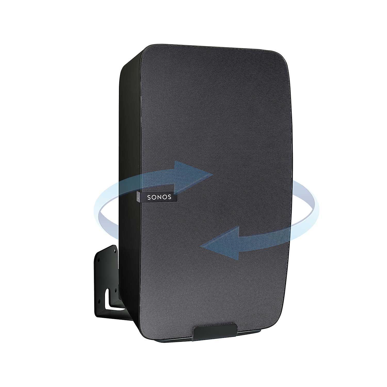 Vebos wall mount Sonos Play 5 gen 2 rotatable black - vertical