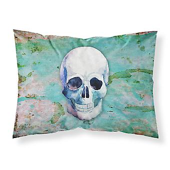 Day of the Dead Teal Skull Fabric Standard Pillowcase