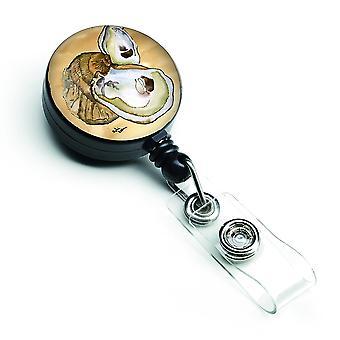Carolines Treasures  8160BR Oyster Retractable Badge Reel
