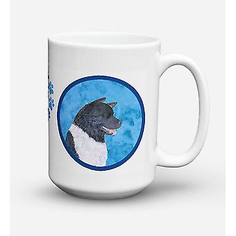 Akita lave-vaisselle sûre pour micro-ondes céramique café tasse 15 oz SS4797