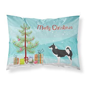 グリーンランド犬クリスマス ファブリックの標準的な枕カバー