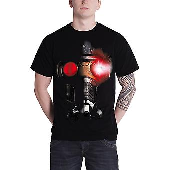 Guardians Of The Galaxy Mens T Shirt Black Marvel Star Lord Helmet Official