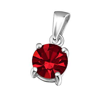 Round - 925 Sterling Silver Crystal Pendants