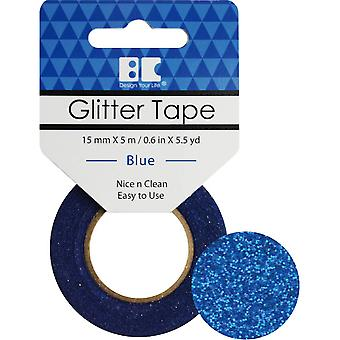 Best Creation Glitter Tape 15mmX5m-Blue GTS-004