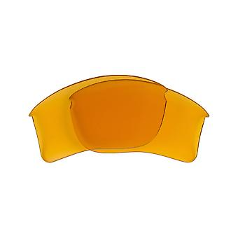 FLAK JACKET XLJ Polarized Lenses Accessories Hi Yellow Yellow by SEEK fit OAKLEY