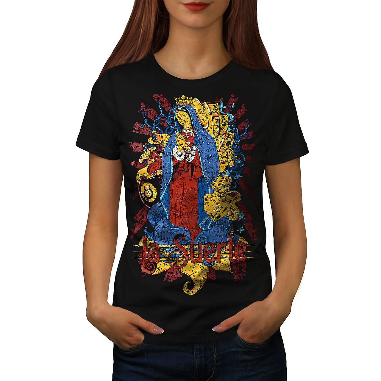 Mary Magdalene Card Women Black T-shirt | Wellcoda