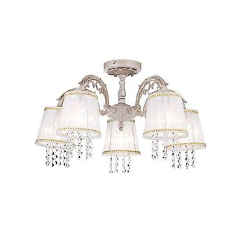 Maytoni Lighting Omela Elegant Collection Chandelier, Cream Gold